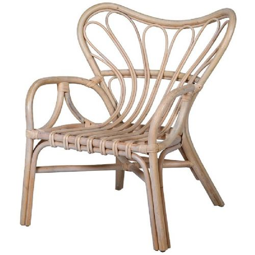 Natural Rattan Butterfly Back Chair
